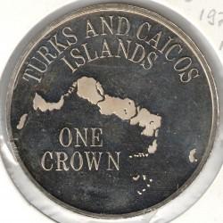 Монета > 1крона, 1975-1977 - Острови Теркс і Кайкос  - reverse