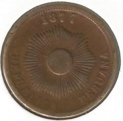 Moneda > 2centavos, 1876-1879 - Perú  - reverse