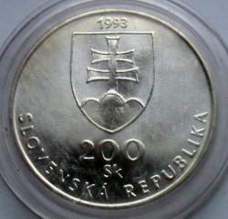 Moneta > 200corone, 1993 - Slovacchia  (150° anniversario - Lingua slovacca) - obverse