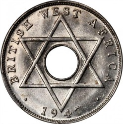 Coin > ½penny, 1937-1947 - British West Africa  - obverse