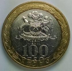 Moneda > 100pesos, 2011 - Chile  - reverse