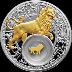 Moneta > 20rubli, 2013 - Białoruś  (Znaki zodiaku - Lew /pozłacany/) - reverse