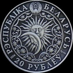 Moneta > 20rubli, 2014 - Białoruś  (Znaki zodiaku - Byk) - obverse