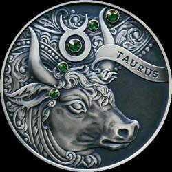 Moneta > 20rubli, 2014 - Białoruś  (Znaki zodiaku - Byk) - reverse
