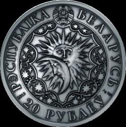 Moneta > 20rubli, 2013 - Białoruś  (Znaki zodiaku - Koziorożec /z kryształami Svarowskiego/) - obverse