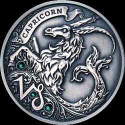 Moneta > 20rubli, 2013 - Białoruś  (Znaki zodiaku - Koziorożec /z kryształami Svarowskiego/) - reverse
