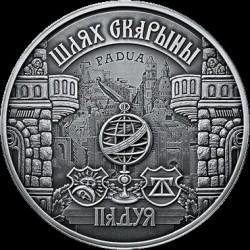 Moneda > 20rublos, 2016 - Bielorrusia  (Camíno de Scorina - Pàdua) - reverse