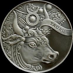 Moneta > 1rubel, 2014 - Białoruś  (Znaki zodiaku - Byk) - reverse