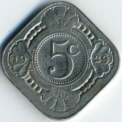 Monēta > 5centi, 1913-1940 - Nīderlande  - reverse