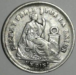 Кованица > 1dinero, 1863-1877 - Перу  - reverse