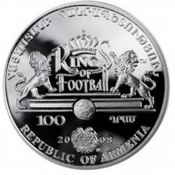 Moneda > 100dram, 2008 - Armenia  (Los Reyes del Fútbol - Lev Yashin) - obverse