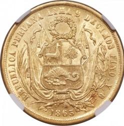 سکه > 20سول, 1863 - پرو  - reverse