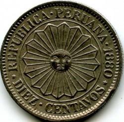 Münze > 10Centavos, 1879-1880 - Peru  - obverse