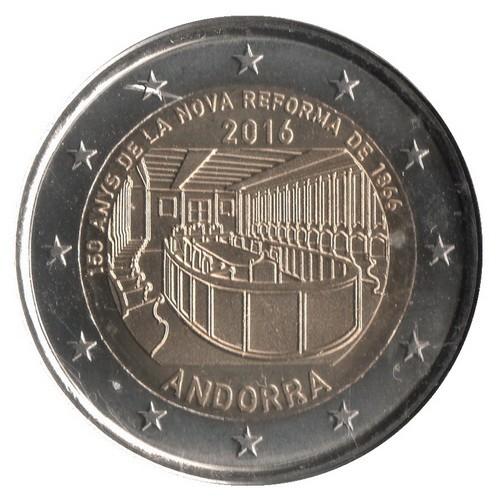 2 Euro 2016 Neuer Reform Von 1866 Andorra Münzen Wert Ucoinnet
