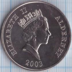 Moneta > 5funtów, 2003 - Alderney  (25 rocznica urodzin - Książe William) - obverse
