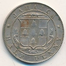 Pièce > ½penny, 1904-1910 - Jamaïque  - obverse
