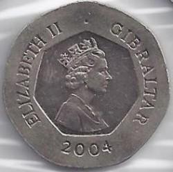 Moneta > 20pence, 2004 - Gibilterra  (300° anniversario - Cattura di Gibilterra) - obverse