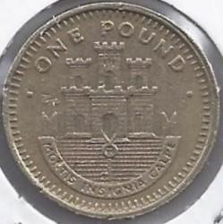 Coin > 1pound, 1988-1997 - Gibraltar  - reverse