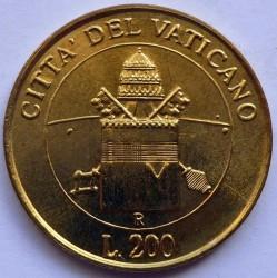 Mynt > 200lire, 2000 - Vatikanstaten  - reverse
