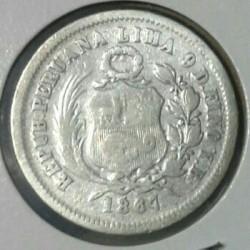 Moeda > ⅕sol, 1863-1875 - Peru  - reverse