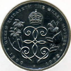 Moneta > 1dollaro, 1990 - Bermuda  (90° anniversario - Nascita della Regina madre) - obverse