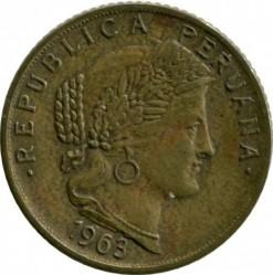 Moneta > 10sentavų, 1963 - Peru  - obverse
