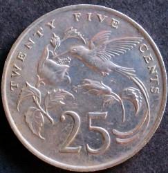 Mynt > 25cents, 1969-1990 - Jamaica  - reverse