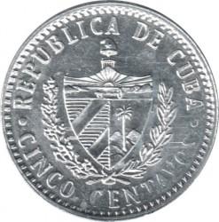 Монета > 5сентавос, 2016-2019 - Куба  - obverse