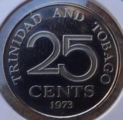 Monedă > 25cenți, 1973 - Trinidad și Tobago  - reverse