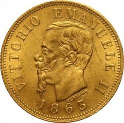 Moneda > 10liras, 1862-1865 - Italia  - obverse