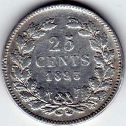 Monēta > 25centi, 1892-1897 - Nīderlande  - reverse