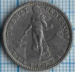 Münze > 20Centavos, 1907-1929 - Philippinen   - reverse