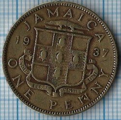 Coin > 1penny, 1937 - Jamaica  - obverse