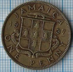 Монета > 1пени, 1937 - Ямайка  - reverse