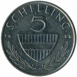 سکه > 5شیلینگ, 1998 - اتریش   - reverse