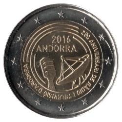 Moneda > 2euros, 2016 - Andorra  (25º Aniversario - Radio y Televisión de Andorra) - obverse