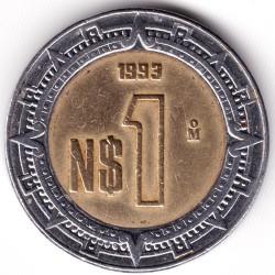 Pièce > 1nouveaupeso, 1993 - Mexique  - obverse