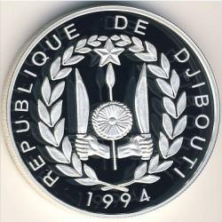 Moneta > 100franchi, 1994 - Gibuti  (Barca a vela Fregata) - obverse