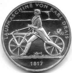 Moeda > 20euro, 2017 - Alemanha  (200th Anniversary - Invention of a Bicycle) - obverse