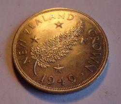 Монета > 1крона, 1949 - Новая Зеландия  - obverse