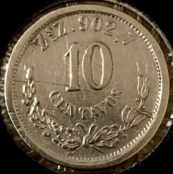 Νόμισμα > 10Σεντάβος, 1869-1897 - Μεξικό  - reverse