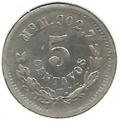 Moneta > 5centavos, 1869-1897 - Meksyk  - reverse