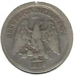 Монета > 5сентавос, 1869-1897 - Мексико  - reverse