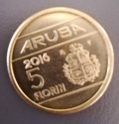 Монета > 5флоринов, 2014-2016 - Аруба  - obverse