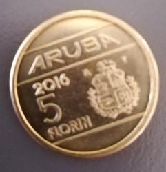 Монета > 5флоринов, 2014-2016 - Аруба  - reverse