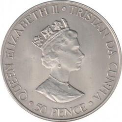 Moneta > 50pensów, 2000 - Tristan da Cunha  (50 rocznica urodzin - Księżniczka Anna) - obverse