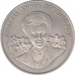 Moneta > 50pensów, 2000 - Tristan da Cunha  (50 rocznica urodzin - Księżniczka Anna) - reverse