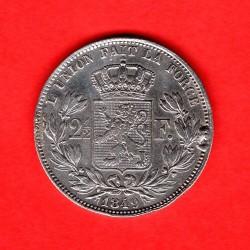 Munt > 2½franc, 1848-1849 - Belgie  - obverse