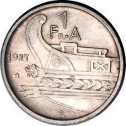 Кованица > 1франгар, 1927-1928 - Албанија  - obverse