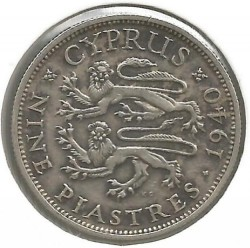 Coin > 9 piastres, 1938-1940 - Cyprus  - obverse